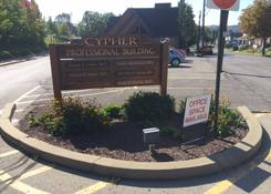 Cypher Professional Building: Entrance sign